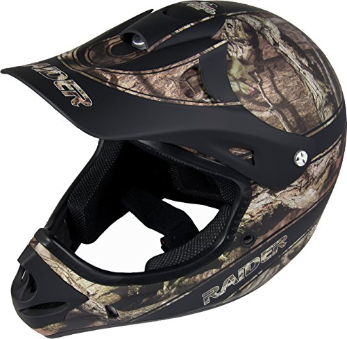Raider unisex Ambush Adult MX Off-Road Helmet, Mossy Oak Break Up Infinity (Large)