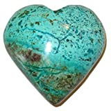 Chrysocolla Heart 50 Aqua Green Picture Mosaic Crystal Relationship Romance Healer Stone 2.8''
