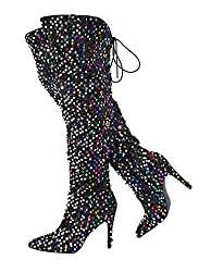 Women Sequins Sparkle Over The Knee Boots