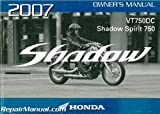 31MCR650 2007 Honda VT750DC Shadow Spirit Motorcycle Owners Manual