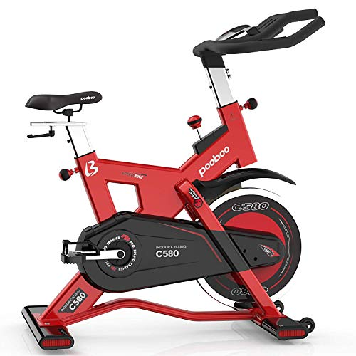 (L NOW Pro Indoor Cycling Bike Smooth Belt Driven Exercise Bike and 40lb flywheel-Commercial Standard)