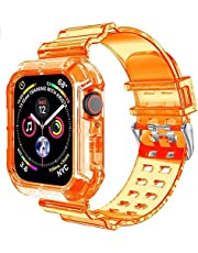 Clear Watch Band for For apple Watch 42mm 44mm,Transparent
