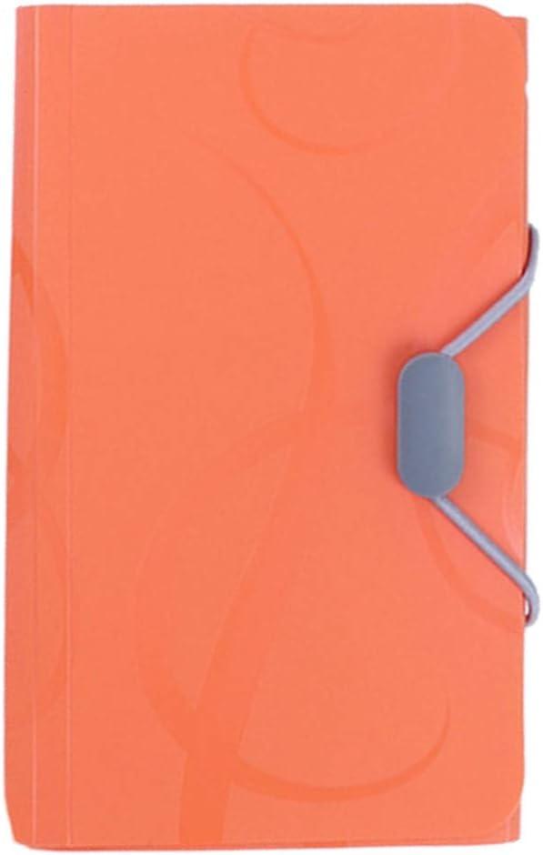 Blu TOYMYTOY Cartella Portadocumenti A6 Classificatore porta Documenti Ufficio Accordion File,17.5 x 11cm,con linguette e chiusura elastica