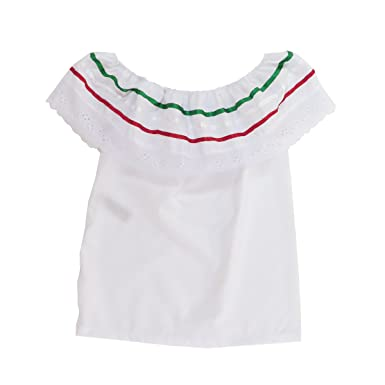 2c7c00f5aa8 Amazon.com  Mexican Clothing Co Baby Girls Mexican Fiesta Blouse Only  Poplin NB White 3017  Clothing