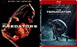 The Terminator Red Case Blu Ray & Predators Sci-Fi Aliens Blu Ray Double Feature Movie Set