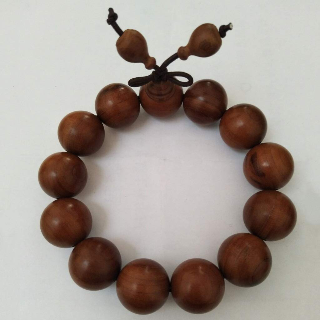 LHBNH Handmade Bracelet Jiale Apricot Wood Bracelet-HJCA19060003 Pure Natural Wooden Creative Bracelet Bracelet Three Optional Personal Gift (Size : C)