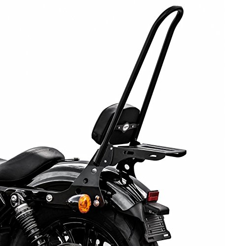 Sissy Bar Detachable Luggage Rack CSXL for Harley Davidson Sportster 04-19 black