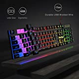 RGB Gaming Keyboard and Backlit Mouse and Headset