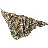Kofun Women Scarf, Women Kids Triangle Chiffon Scarf Printed Shawl Wrap Headband Hairwrap Fashion Army Green Bottom Vintage Flower