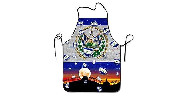 Yongchuang Feng El Salvador bandera unisex cocina barbacoa ...