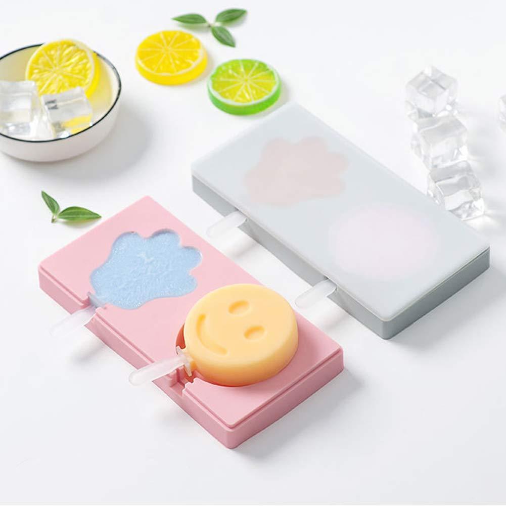 b/âton Glaces Moules /À Glaces en Plastique pour Fruit Enfants Ananas Rose-avec Couvercle Alimagic Moules /à Glaces