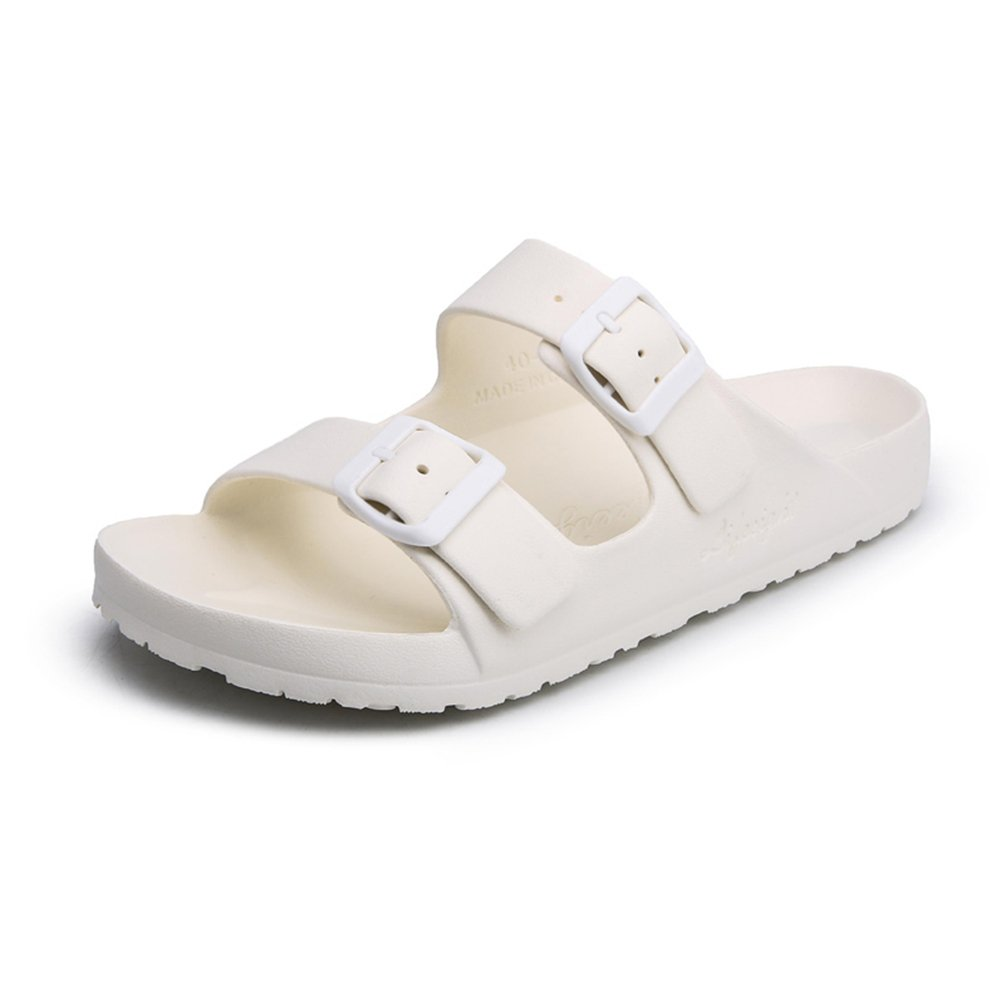 Sherry Love Unisex Adult Mens Sandals Flip-Flop for Outdoor Use-White-37 EUR