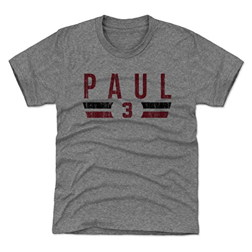 - 500 LEVEL Houston Basketball Youth Shirt - Kids X-Large (14-16Y) Tri Gray - Chris Paul Houston Font R