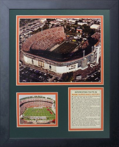 Legends Never Die Miami Hurricanes Miami Orange Bowl Framed Photo Collage, 11 by 14-Inch -