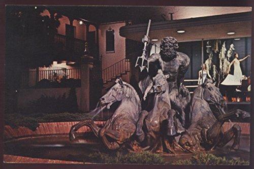 NEPTUNE STATUE Fountain Country Club Plaza Kansas City MO Night Scene -