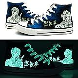 Black Butler Kuroshitsuji Ciel and Sebastian Cosplay Shoes Canvas Shoes Sneakers Luminous
