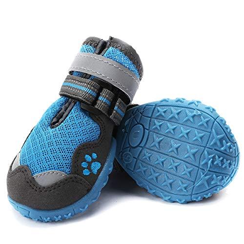 Ulandago Breathable Mesh Dog Boots Summer for Large Dogs