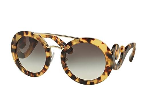 69eebfa825a3 Amazon.com  Prada PR 13SS (7S00A7) Womens Round Sunglasses  Clothing