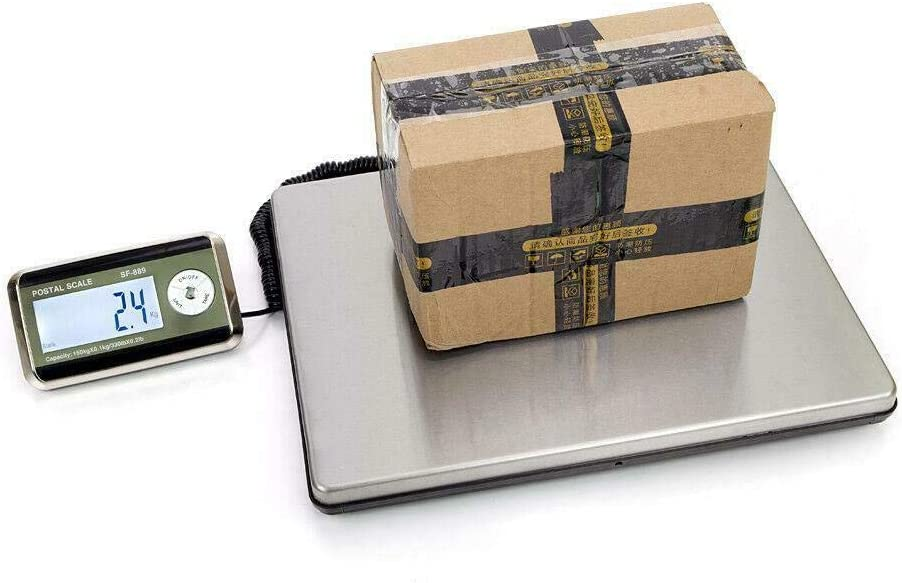Electronic LCD Scales Commercial Digital Weight 330lbs Digital Shipping Postal Scale Heavy Duty Steel, Food Meat, Warehouse, Department Store, Deli Industrial