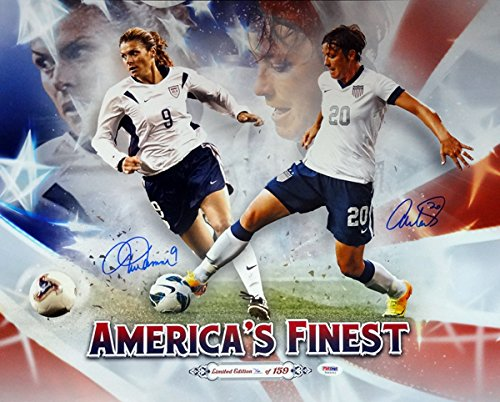 Abby Wambach & Mia Hamm Autographed 16x20 Photo Team USA PSA/DNA Stock #103201