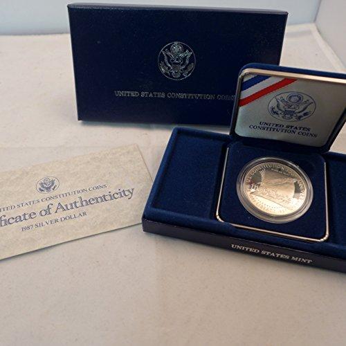 1987 P Commemorative Constitution Silver Dollar $1 Proof US Mint