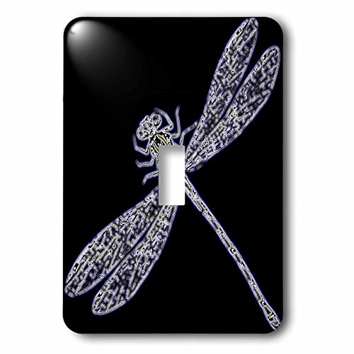 3dRose LSP_243817_1 Image of Neon Purple and White Dragonfly Closeup Toggle Switch (Neon Dragon)
