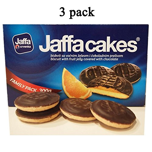 Jaffa Cakes Fruit Jelly Covered Chocolate 300g (3 pk) total 900g By Egourmet (Cakes Jaffa Christmas)