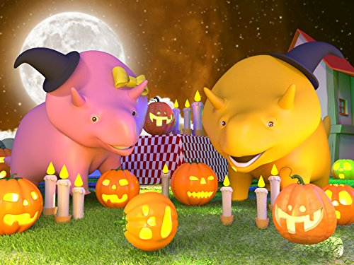 Halloween Special : Dino and Dina Learn How to Make a Jack-O-lantern ! / Dino and Dina play Hopscotch]()