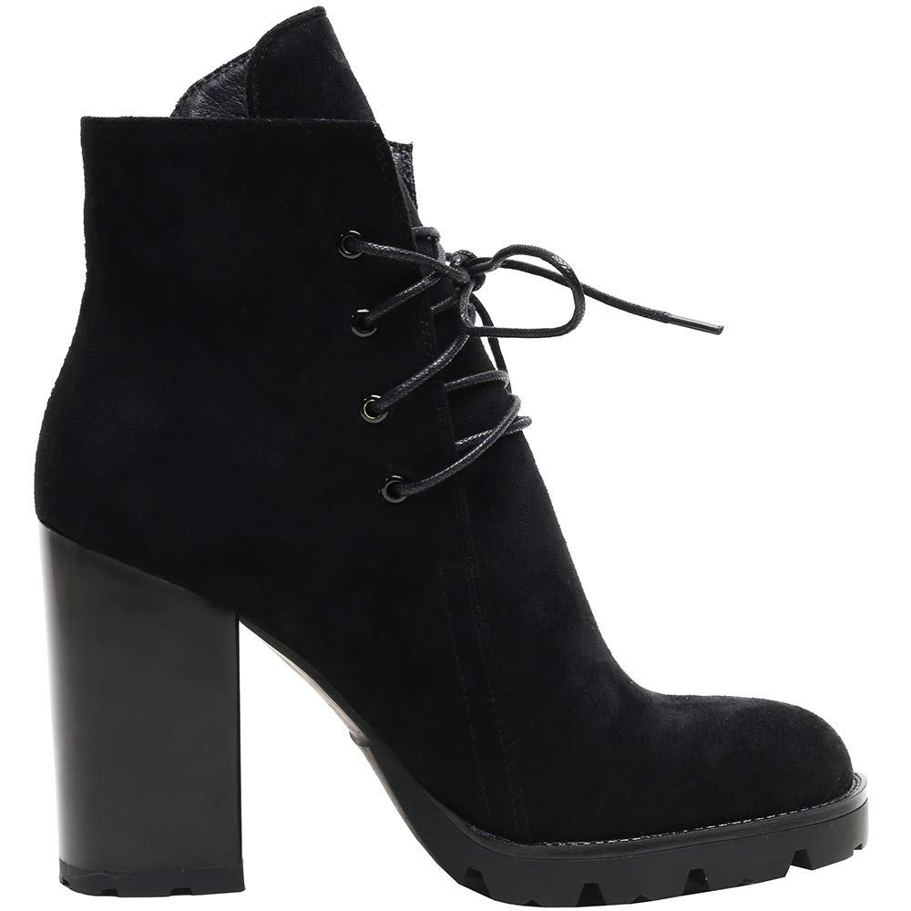Sofree Womens Mid Calf Stretch high Heel Ankle Boots /…