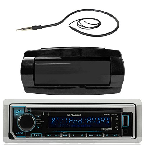 Kenwood KMR-D365BT MP3/USB/AUX Marine Boat Yacht Stereo Receiver CD Player Bundle Combo With Jensen Marine MRH211B Black Water Resistant Housing + Enrock EKMR1 Water Resistant 22