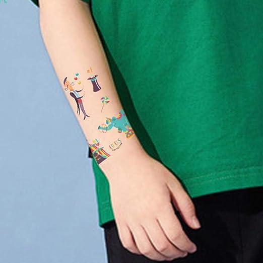 hello rosa - Pegatina de Tatuajes temporales para niños (12 Hojas ...