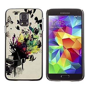 Be Good Phone Accessory // Dura Cáscara cubierta Protectora Caso Carcasa Funda de Protección para Samsung Galaxy S5 SM-G900 // Butterflies Colorful Painting