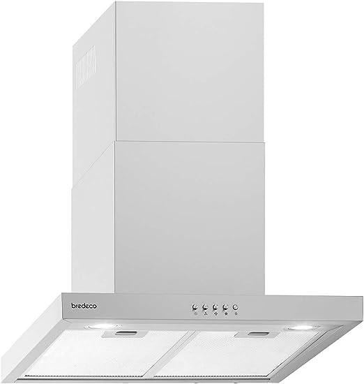 bredeco Campana De Pared Para Cocina BCCH-200A-60A (Iluminación LED, Eficiencia energética: A, Nivel de ruido de 70 dB, 636,5 m³/h, 60 cm): Amazon.es: Grandes electrodomésticos