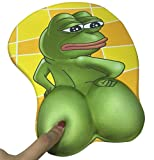 Sad Frog Feels Bad Man 3D Silicone Wrist Rest Mouse Pad Gaming Mousepad