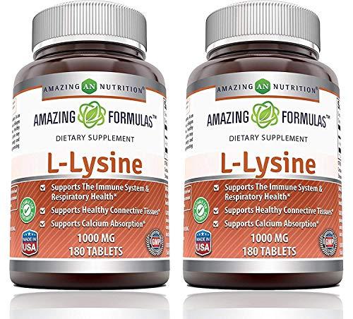 Amazingmulas L-Lysine 1000mg Amino