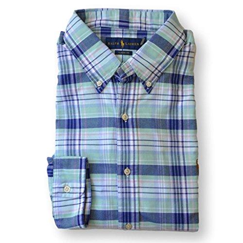 Fit Oxford Sport Shirt - Polo Ralph Lauren Men Classic Fit Oxford Sport Shirt, Green Plaid, Medium