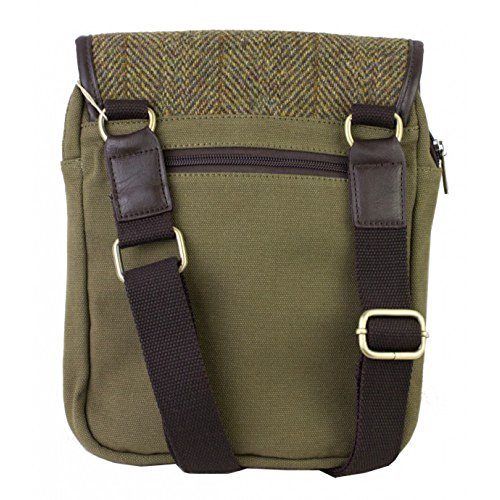 Tradizionale verde Harris Tweed Compact Crossover Bag