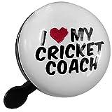Small Bike Bell I heart love my Cricket Coach - NEONBLOND