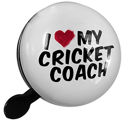 Small Bike Bell I heart love my Cricket Coach - NEONBLOND by NEONBLOND