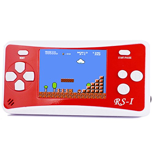 "JJFUN RS-1 Handheld Game Console for Children,Retro Game Player with 2.5"" 8-Bit LCD Portable Video Games,The 80's Arcade Video Gaming System,Built-in 152 Classic Old School Games Entertainment-Red"