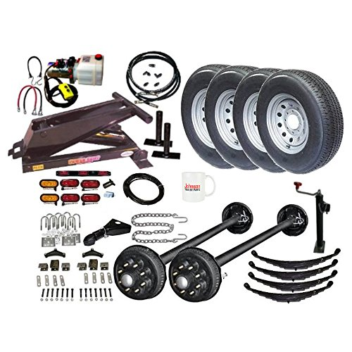 Hydraulic Dump Trailer Parts Kit - 12,000 lbs Capacity - Tandem Brake Axles - Model 14HD (Special Deluxe) (Tandem Axle Dump Trailers)