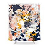 Pink and Cream Shower Curtains MAOXUXIN Stella - Abstract Painting in Modern Fresh Colors Navy, Orange, Pink, Cream, White, and Gold Shower Curtain 60