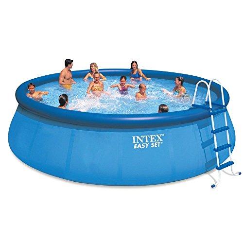 Intex 18ft X 48in Easy Set Pool Set with Filter Pump, Ladder, Ground Cloth & Pool (Intex Pool Set)