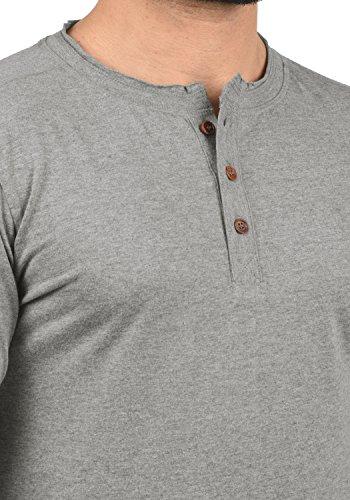 solid t shirt À 8236 Grey nbsp; Manches Melange Homme Taoki Longues Sqq4H1xwp