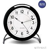 ROSENDAHL ローゼンダール Station ステーション Arne Jacobsen アルネ・ヤコブセン Table Clock テーブルクロック Φ110mm LED灯 アラーム機能搭載 (置時計 目覚まし時計)