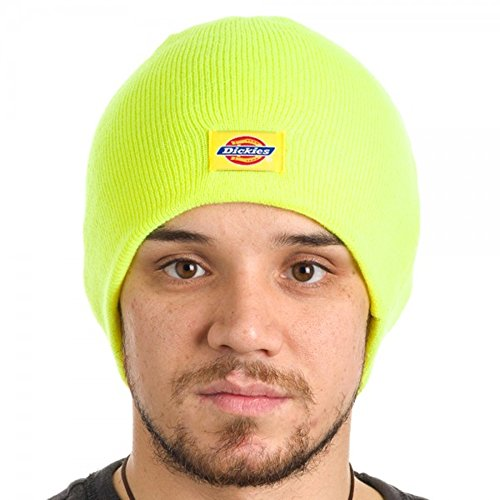 Dickies Core 874 Cuff Knit Beanie Watch Cap (Safety Yellow)