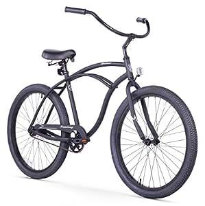 Firmstrong Urban Man Alloy Single Speed Beach Cruiser Bicycle, 26-Inch, Matte Black