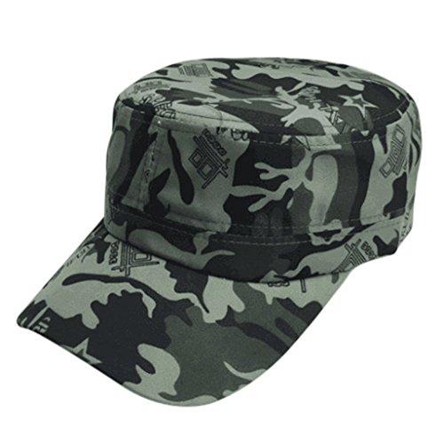 Baseball Caps Men Women chaofanjiancai Hats Hip-Hop Army Military Camouflage Outdoor Climbing (Free, Green A)