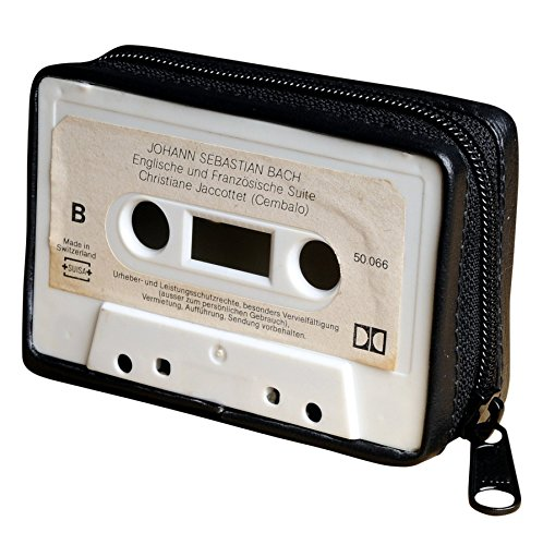 Small purse made of music cassette - FREE SHIPPING - upcycled cassettes tape recorder vintage retro style nostalgic nostalgia lovers gift gifts for musician singer choir reduce reuse recycle upcycle