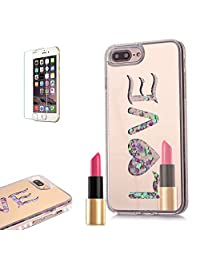 iPhone 6S Case ,iPhone 6 Mirror Case [with Free Screen Protector] ,Funyye Fashion Luxury Bling Hybrid Soft TPU Bumper with Gold LOVE Plating Liquid Quicksand Flowing Floating Ultra Slim PC Hard Case for iPhone 6S/6 4.7""